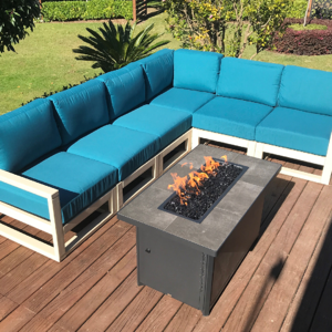 teal outdoor sectional