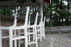 Bar height all weather chairs