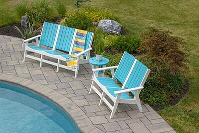 Poolside furniture for all seasons